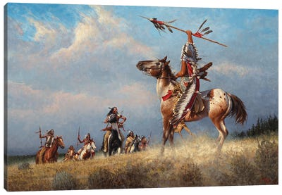 Gathering The Eagles Canvas Art Print