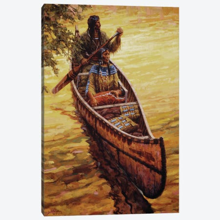 His Treasures Canvas Print #JVL33} by Joe Velazquez Canvas Wall Art