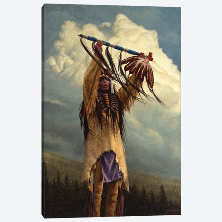 Keeper Of The Sacred Pipe Canvas Print #JVL36} by Joe Velazquez Art Print