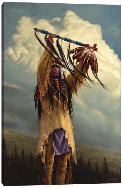 Keeper Of The Sacred Pipe Canvas Art Print
