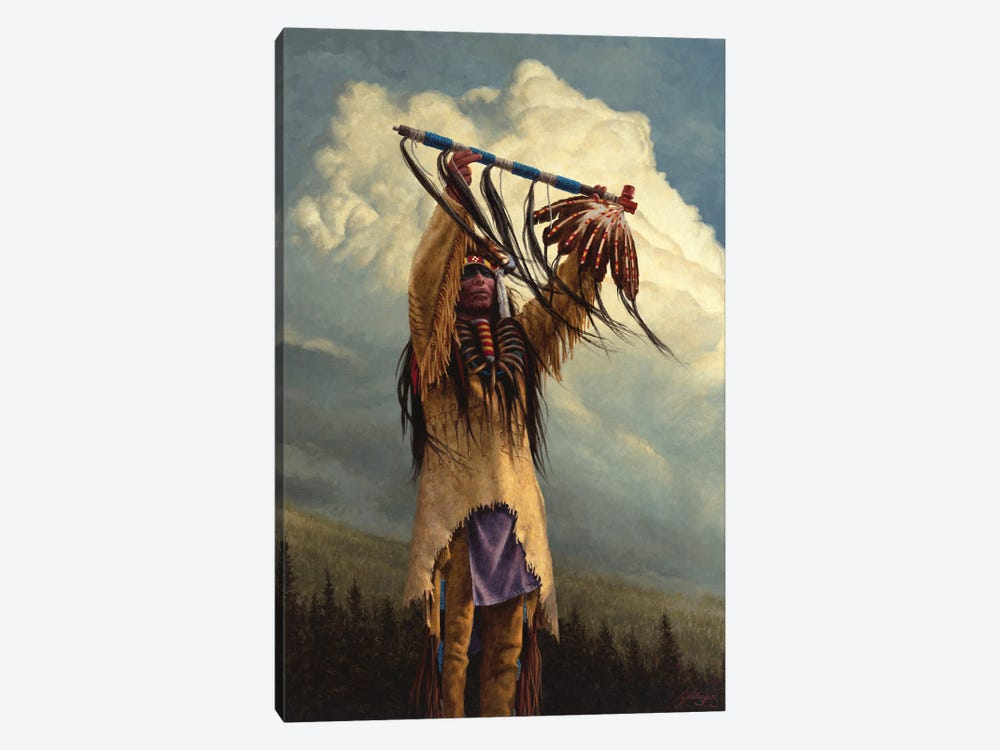 Keeper Of The Sacred Pipe by Joe Velazquez 1-piece Canvas Art