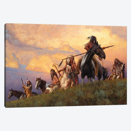 Lakotas - Prowlers Of The Grasslands Canvas Print #JVL37} by Joe Velazquez Canvas Print
