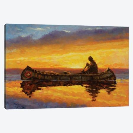 On Quiet Water Canvas Print #JVL48} by Joe Velazquez Canvas Print