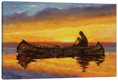 On Quiet Water Canvas Art Print