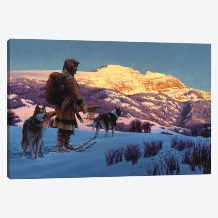 Quest For Winter Plews Canvas Print #JVL53} by Joe Velazquez Canvas Wall Art