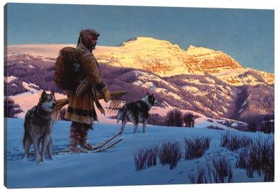 Quest For Winter Plews Canvas Art Print