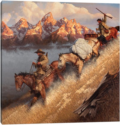 Race To Jackson's Hole Canvas Art Print