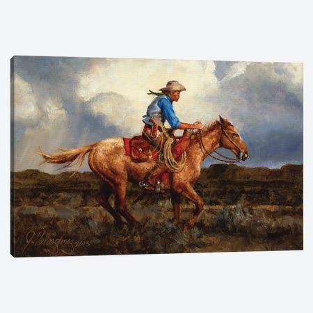 Racing The Storm Canvas Print #JVL57} by Joe Velazquez Canvas Art Print