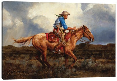 Racing The Storm Canvas Art Print