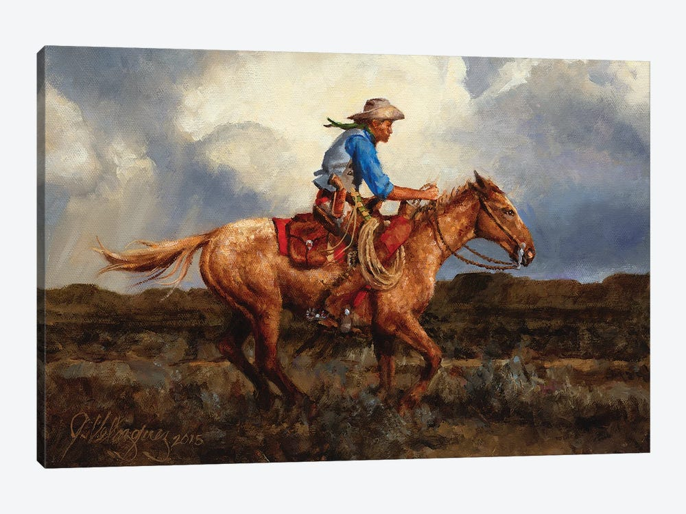 Racing The Storm by Joe Velazquez 1-piece Canvas Art Print
