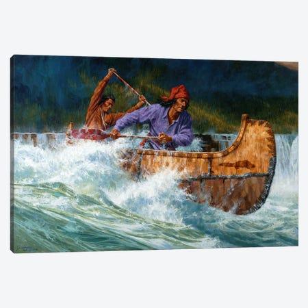 Running The Chute Canvas Print #JVL63} by Joe Velazquez Art Print