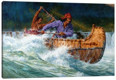 Running The Chute Canvas Art Print