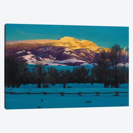 Sleeping Indian Mountain Canvas Print #JVL67} by Joe Velazquez Canvas Art