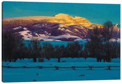 Sleeping Indian Mountain Canvas Art Print