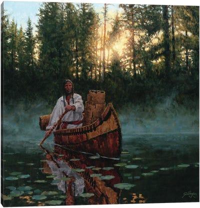 The Bark Gatherer Canvas Art Print