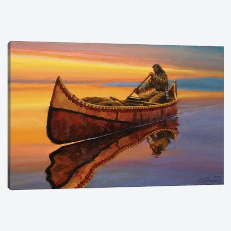 The Calm Of Twilight Canvas Print #JVL74} by Joe Velazquez Art Print