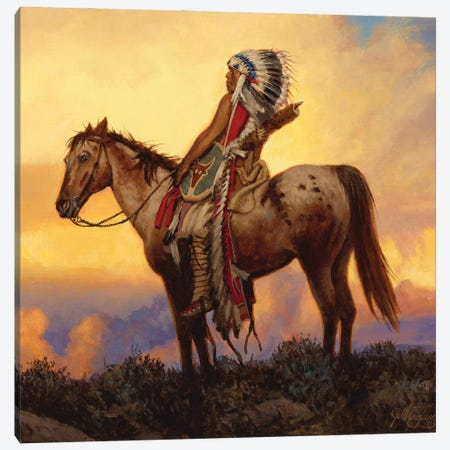 The Last Great Warrior Canvas Print #JVL75} by Joe Velazquez Art Print