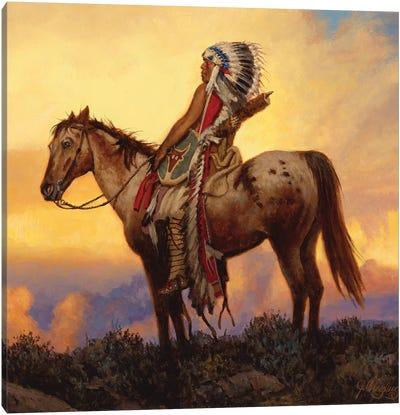 The Last Great Warrior Canvas Art Print
