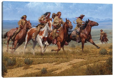 The Race At Rendezvous Canvas Art Print