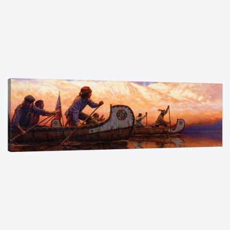 The Voyageurs Canvas Print #JVL82} by Joe Velazquez Canvas Print