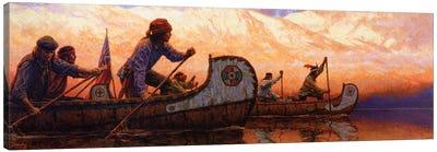 The Voyageurs Canvas Art Print