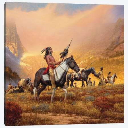 The Way Of Their Ancestors Canvas Print #JVL83} by Joe Velazquez Canvas Art Print