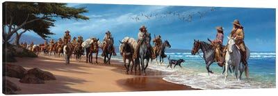 They Touched The Pacific Canvas Art Print