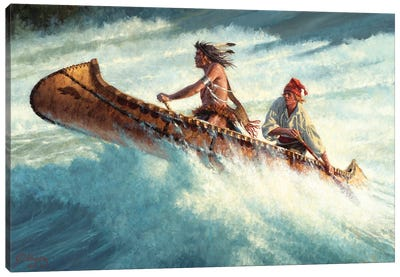 Through The Rage And The Roar Canvas Art Print