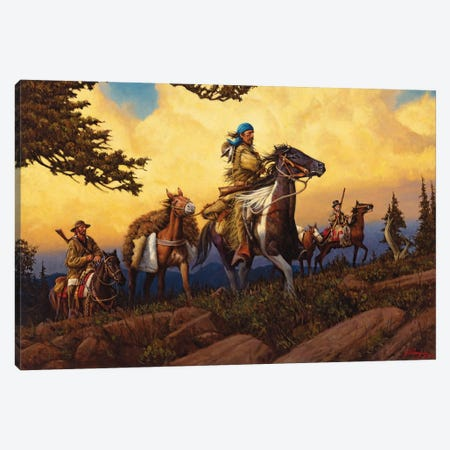 An Intrepid Breed Of Men Canvas Print #JVL8} by Joe Velazquez Art Print