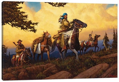 An Intrepid Breed Of Men Canvas Art Print