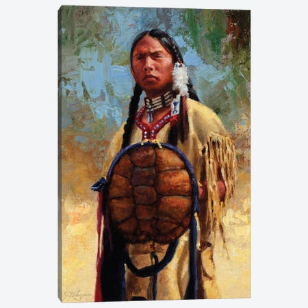 Turtle Spirit Shield Canvas Print #JVL90} by Joe Velazquez Canvas Art