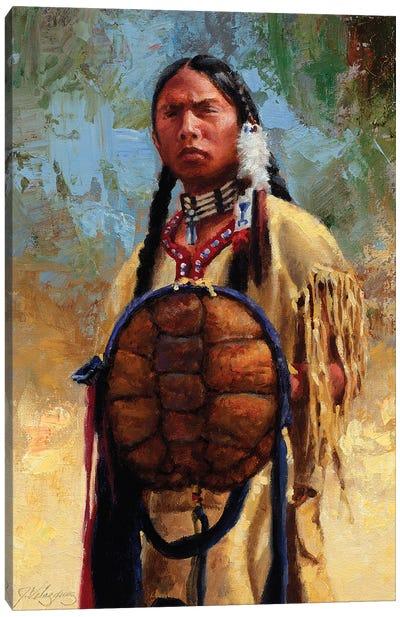 Turtle Spirit Shield Canvas Art Print