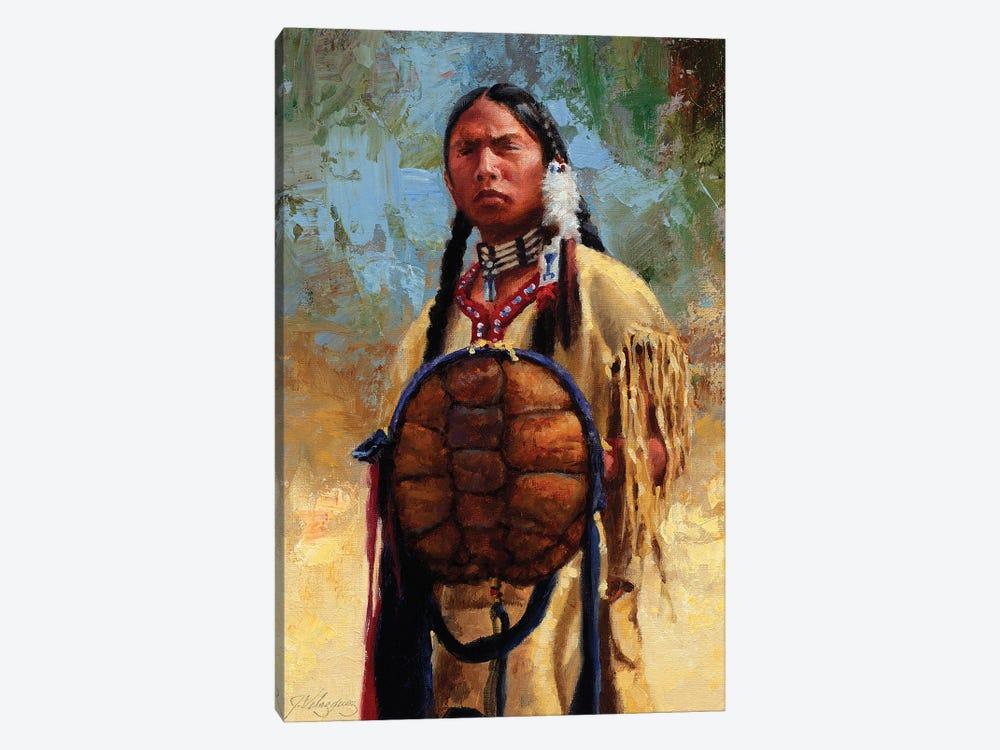 Turtle Spirit Shield by Joe Velazquez 1-piece Canvas Wall Art