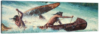 Wildwater Race Canvas Art Print