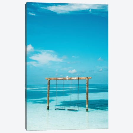 Maldives Resort Club Med Beach Swing Canvas Print #JVO102} by James Vodicka Canvas Wall Art