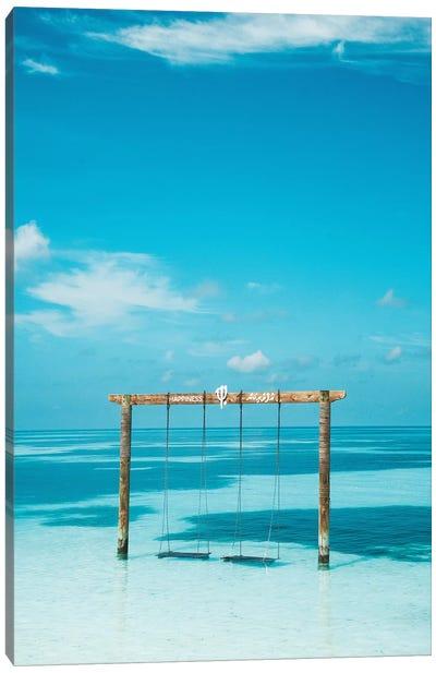 Maldives Resort Club Med Beach Swing Canvas Art Print