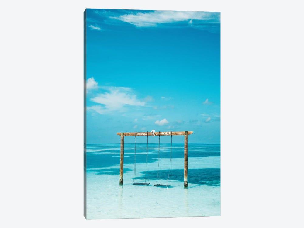 Maldives Resort Club Med Beach Swing by James Vodicka 1-piece Canvas Print