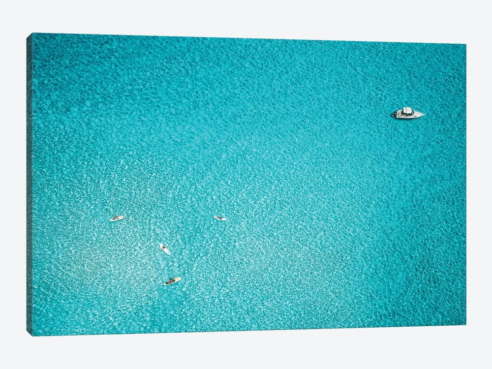 Minimal Aerial Ocean Paddleboarding by James Vodicka 1-piece Canvas Art