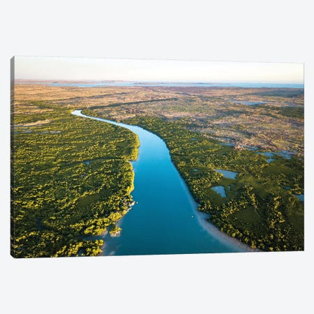 Mitchell River Golden Sunrise Aerial Canvas Print #JVO108} by James Vodicka Canvas Wall Art