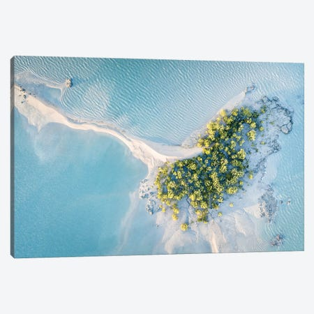 Mitchell River Sand Spit Abstract Aerial Canvas Print #JVO109} by James Vodicka Canvas Wall Art