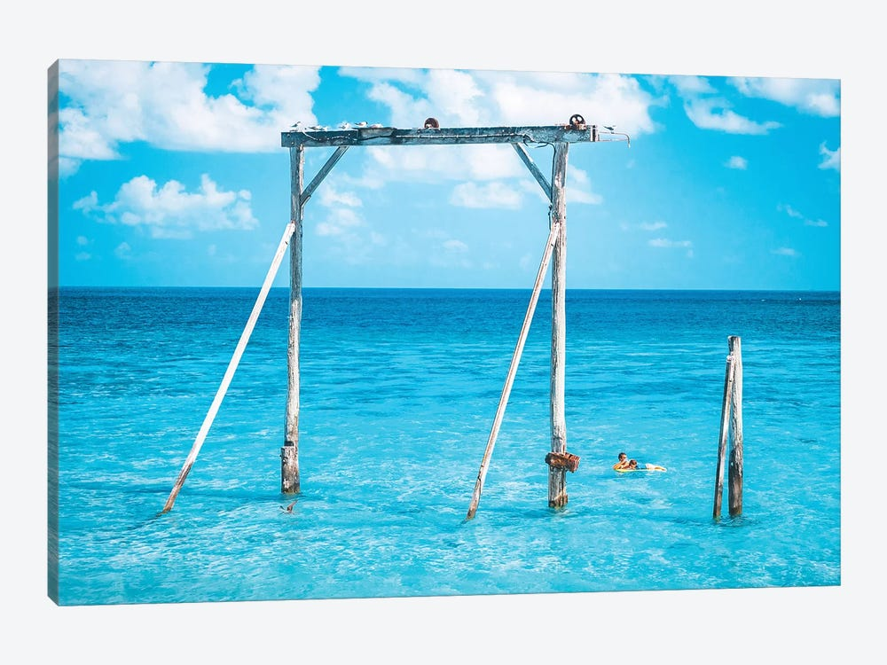 Ocean Gantry Great Barrier Reef by James Vodicka 1-piece Canvas Wall Art