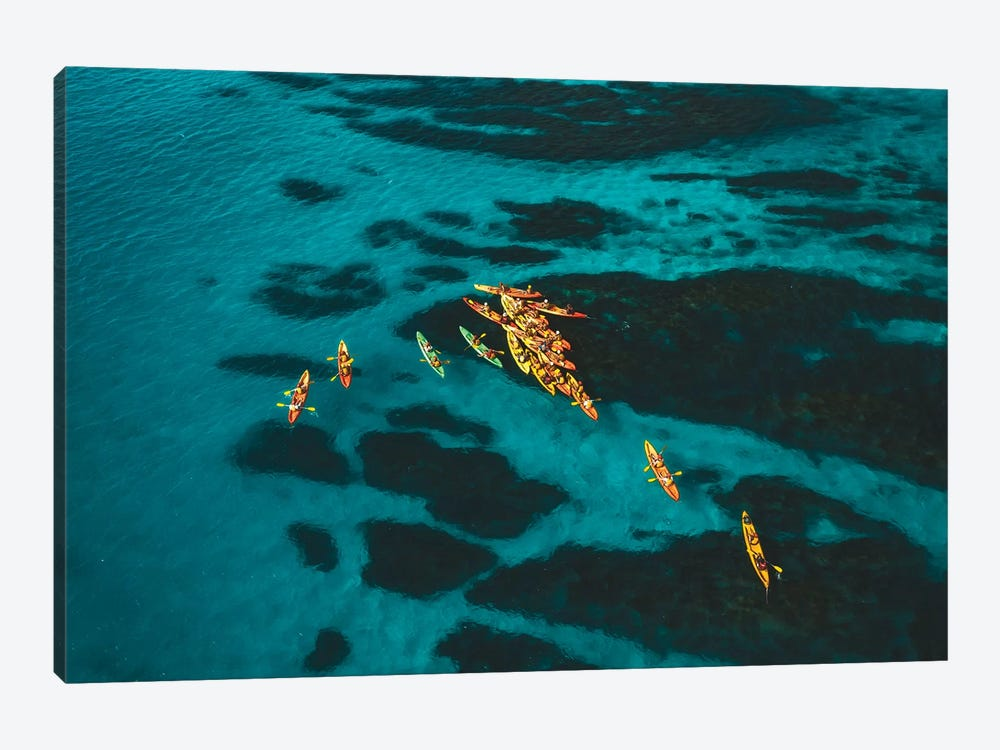 Ocean Kayaking Byron Bay by James Vodicka 1-piece Canvas Print