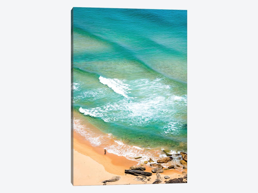 Palm Beach Solitary Walker (Tall) by James Vodicka 1-piece Canvas Print