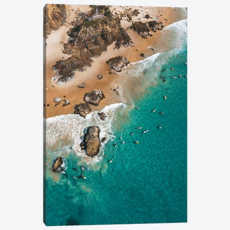 Point Break Byron Surfers Canvas Print #JVO134} by James Vodicka Canvas Art