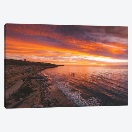 Port Wilunga Beach Sunset Canvas Print #JVO135} by James Vodicka Canvas Wall Art