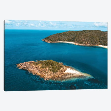 Pristine Queensland Island Aerial Canvas Print #JVO137} by James Vodicka Canvas Artwork