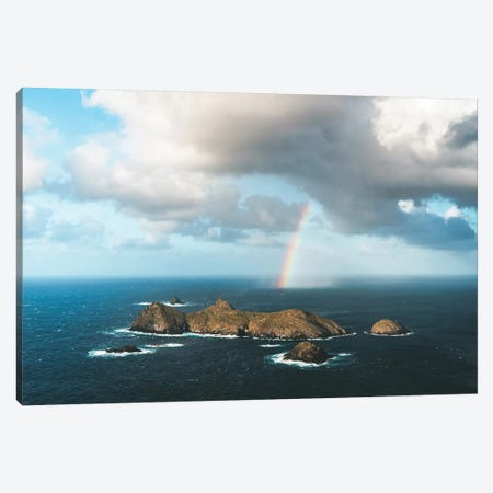 Ranbow Over Islands Aerial Canvas Print #JVO142} by James Vodicka Canvas Wall Art