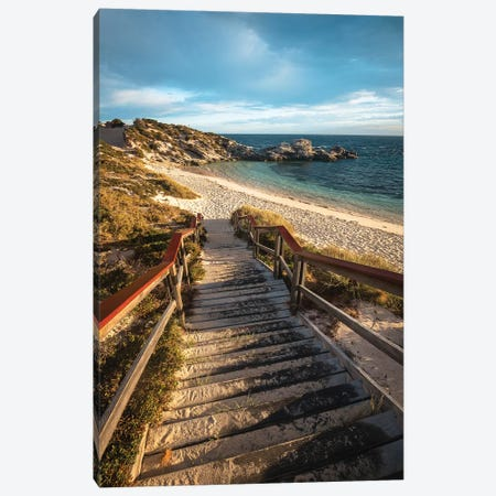 Rottnest Island Sunset Stairs Canvas Print #JVO149} by James Vodicka Canvas Wall Art