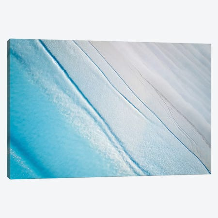 Sand & Ocean Beach Aerial Canvas Print #JVO152} by James Vodicka Canvas Art Print