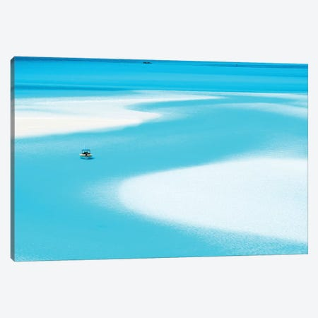 Sand Patterns Hill Inlet with Zodiac Boat Canvas Print #JVO153} by James Vodicka Art Print